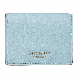 ケイトスペード kate spade PWRU7395 373ブルー 三つ折財布【c】【新品/未使用/正規品】