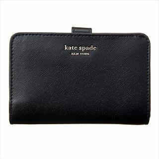 ケイトスペード KATE SPADE PWRU7748 001 二つ折り財布 ブラック【c】【新品/未使用/正規品】