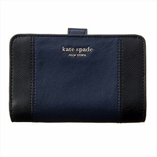 ケイトスペード KATE SPADE PWRU7748 856 二つ折り財布 ブラック【c】【新品/未使用/正規品】