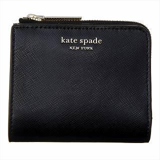 ケイトスペード KATE SPADE PWRU7765 001 二つ折り財布ブラック【c】【新品/未使用/正規品】