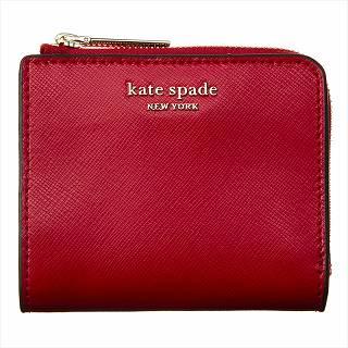 ケイトスペード KATE SPADE PWRU7765 611レッド 二つ折り財布ブラック【c】【新品/未使用/正規品】