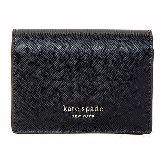 ケイトスペード kate spade PWRU7852 001ブラック 折り財布パスケースキーホルダー【c】【新品/未使用/正規品】