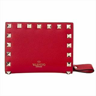 ヴァレンティノ VALENTINO TW2P0620 BOL JU5 二つ折り財布 レッド【c】【新品/未使用/正規品】