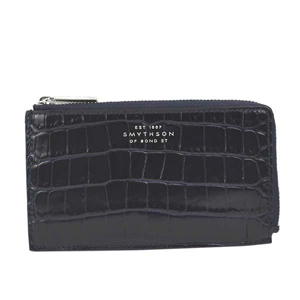 スマイソン 1024046 MARA カードケース NAVYネイビークロコ型押コインケース【】【新品/未使用/正規品】