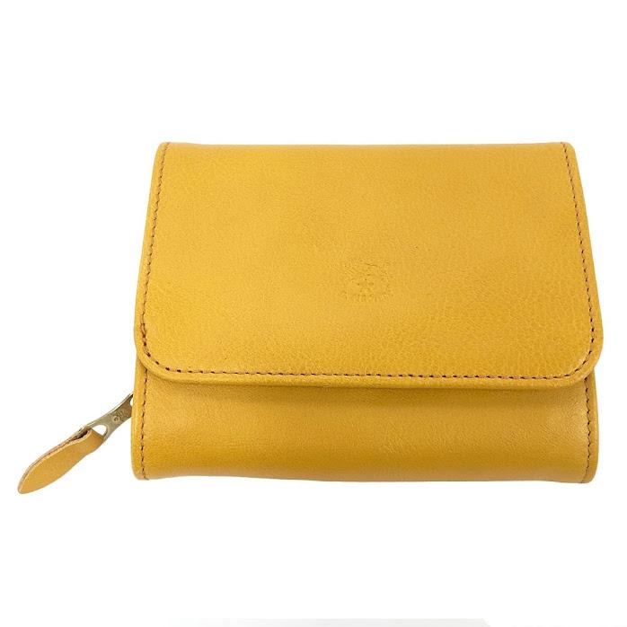 イルビゾンテ IL BISONTE C0883 978 SPUMA 二つ折り財布【r】【新品・未使用・正規品】