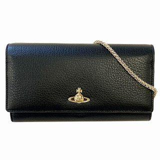 ヴィヴィアン ウエストウッド Vivienne Westwood 51030008 BLACK 二つ折り長財布 チェーンウォレット BALMORAL【r】【新品・未使用・正規品】