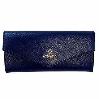 ヴィヴィアン ウエストウッド Vivienne Westwood 51040028 40187 K402 BLUE 二つ折り長財布 PIMLICO【r】【新品・未使用・正規品】