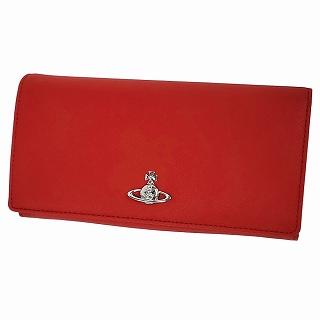 ヴィヴィアン ウエストウッド Vivienne Westwood 51060025 40565 H401 RED パスケース付 二つ折り長財布 VICTORIA【r】【新品・未使用・正規品】