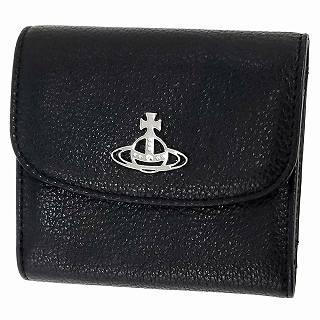 ヴィヴィアン ウエストウッド Vivienne Westwood 51070026 41082 N402 BLACK 二つ折り財布 JOHANNA【r】【新品・未使用・正規品】
