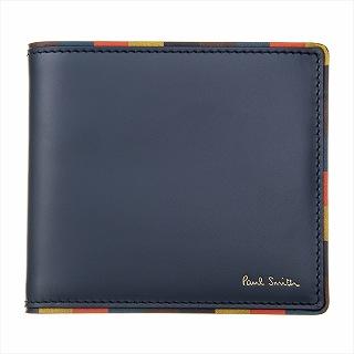ポールスミス PAUL SMITH M1A 4833 AEDGE 48-Denim 二つ折り財布【c】【新品・未使用・正規品】