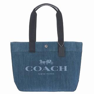 送料無料 日本 2021 コーチ COACH F67415 SV DE デニム トートバッグ 開店祝い 新品 ハンドバッグ 未使用 1 正規品