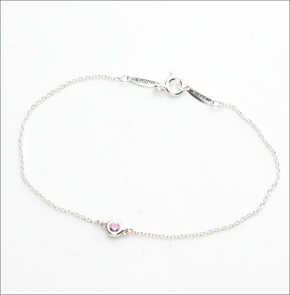 f2873080c 1 Tiffany color by the yard bracelet Pink Sapphire sterling silver 0.08 ct  7 in 25392906 ...