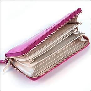 1 Kate spade HARRISON STREET LACEY zip around wallet pink magenta PWRU1847 666 MODERN MAGENTA