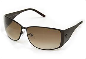 1 police sunglasses S8451G SLS dark brown metal Brown gradation