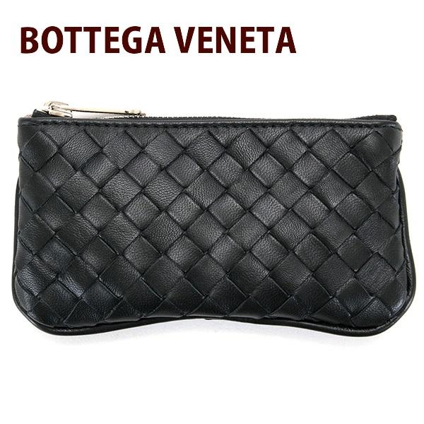 送料無料 新品 ボッテガヴェネタ BOTTEGA VENETA コインケース メンズ レディース 小銭入れ キーリング付き ネロブラック 131232 V0016 1259 NERO