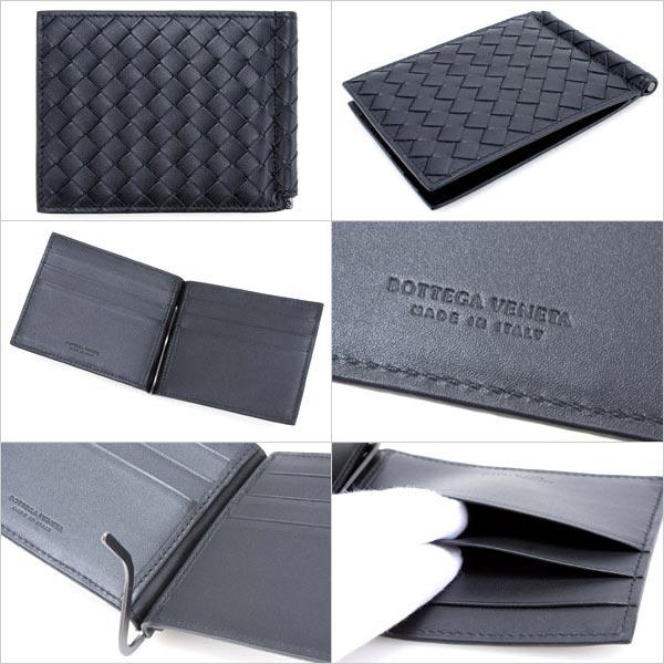 123180 ボッテガヴェネタ wallet BOTTEGA VENETA folio wallet men bill scissors money  clip card (chip card) packable V4651 1000 black (black) regular article ...