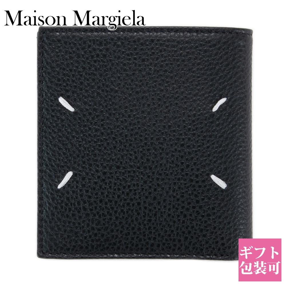 メゾンマルジェラ 財布 二つ折り財布 メンズ レディース メゾン マルジェラ Maison Margiela MM6 エムエム6 レザー ブラック 黒 BLACK S35UI0438 P2686 H1669【新品 新作 ブランド 2020年 正規品】