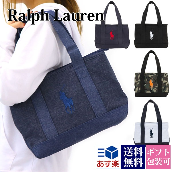 ac88f7609e19 Ralph Lauren RALPH LAUREN bag lady men tote bag POLO PONY TOTE MD canvas  pony embroidery pony Thoth