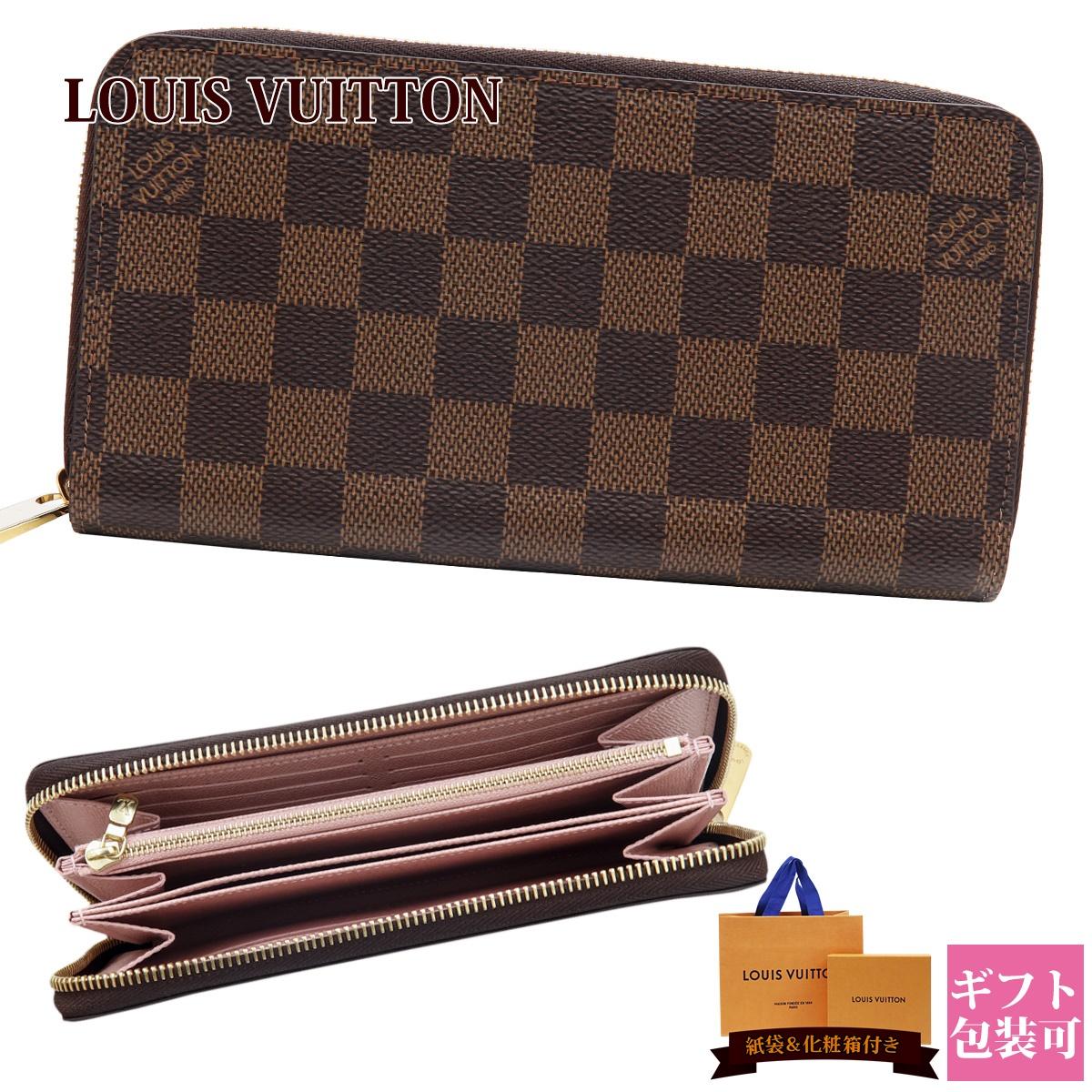 ルイヴィトン 財布 長財布 新品 LOUIS VUITTON レディース ラウンドファスナー ジッピー・ウォレット ダミエ・エベヌ/ローズ・バレリーヌ N60046ブランド 新作 2018年