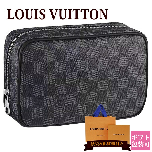 ルイヴィトン バッグ 鞄 かばん LOUIS VUITTON 新品 メンズ トラベルポーチ トゥルース・トワレ PM ダミエ・グラフィット N47522