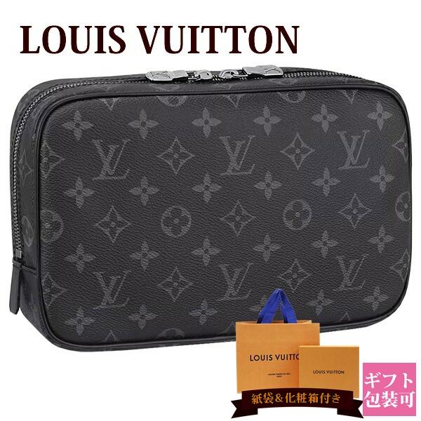 ルイヴィトン バッグ 鞄 かばん LOUIS VUITTON 新品 メンズ トラベルポーチ トゥルース・トワレ GM モノグラム・エクリプス M43383