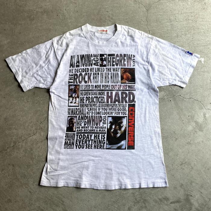 チャールズ バークレー Tシャツ 90年代 人気商品 CONVERSE コンバース SA21073 メンズM相当 中古 Charles 古着 Barkley 時間指定不可