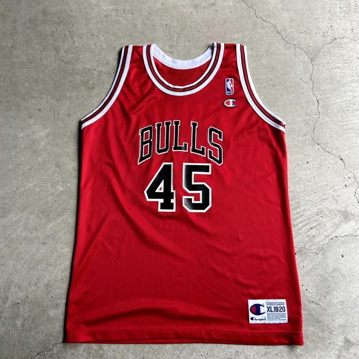 贈答 マイケルジョーダン ゲームシャツ 90年代 USA製 シカゴ ブルズ 2020新作 45 タンクトップ 古着 メンズM相当 16-18 中古 キッズXL レディースL相当 SA21073