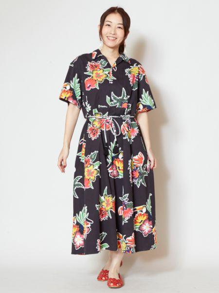 【SALE】チャイハネ 公式 《メヒリコシャツワンピース》 エスニック アジアン ファッション ワンピース IAC-9157
