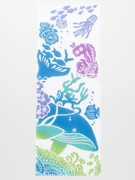 チャイハネ 公式 《クジラ手拭》 エスニック アジアン  ファブリック バンダナ/タオル/ハンカチ JRCP9202