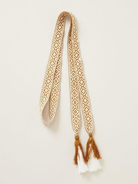ジオメリベルト エスニック チャイハネ 公式 CKOP7904織りヒモベルトの先に付いたフリンジがポイントです。お好きな位置で結んでご使用ください。