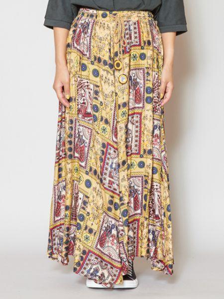 チャイハネ 公式 《ミテラースカート》 エスニック アジアン ファッション スカート IAC-0107