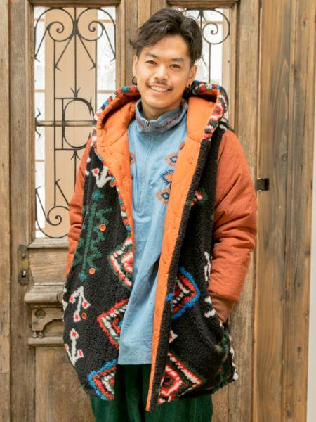 【SALE】チャイハネ 公式 《シュクランメンズコート【リバーシブル】》 エスニック アジアン ファッション アウター/羽織り CCK-8310