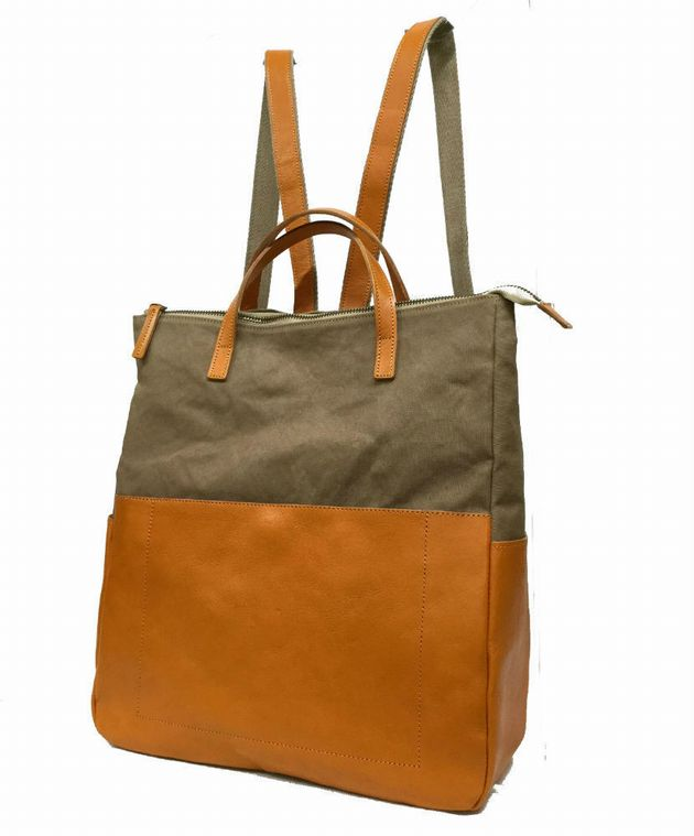 9ed742117526 go want to bag ☆-wax canvas * leather backpack sd0049 # bag store ...