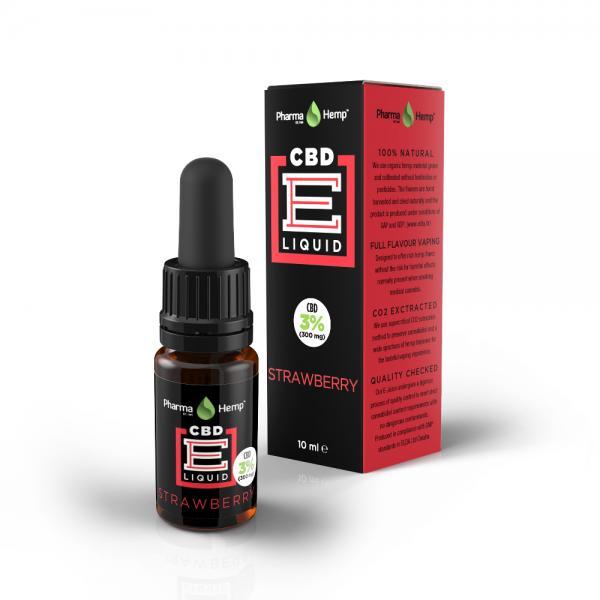 3%CBD配合、99%クリスタル使用 ベポライザー用CBDリキッド ストロベリーフレーバー CBD300mg/10ml -302