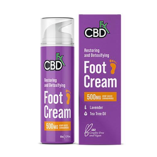 サラッとした塗り心地で さっぱり清潔感のあるスラッと美脚に CBD フットクリーム CBDfx 500mg 年中無休 CREAM 店内全品対象 FOOT
