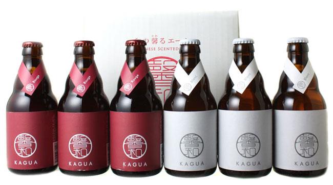 最上級の和ビール 赤 年中無休 白 両方入った6本セット 馨和 国際ブランド 6本ギフトセット 白330ml×各3本 KAGUA 贈り物に かぐあ