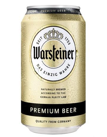 ヴァルシュタイナー (缶) ドイツビール 4.8% 330ml  【ビールの本場ドイツでもトップクラスのブランド!】