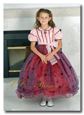 『情熱的で華やかなドレス≪スカーレット≫』 キッズドレス、 クラシカルドレス、 フォーマルドレス、 子供ドレス、 発表会、 結婚式、パーティー、宴会、イベント、本格、優雅、上品、エレガント、 赤、クリスマス、 レッド、 100・110・120・130・140 【CC-Princess】