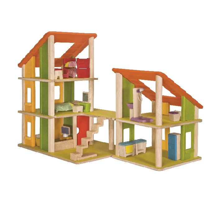 木のおもちゃ お誕生日祝い ギフト PLANTOYS プラントイ 家具付きシャレードールハウス2