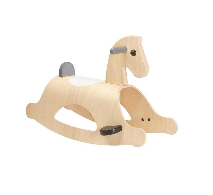 ラッピング無料 PLANTOYS プラントイ パロミノ モノ 木のおもちゃ お誕生日 ギフト 誕生日プレゼント 乗用玩具 馬 ロッキング ロッキングホース ゆらゆら プレゼント 男の子 女の子 おしゃれ インテリア モノトーン 2歳 3歳