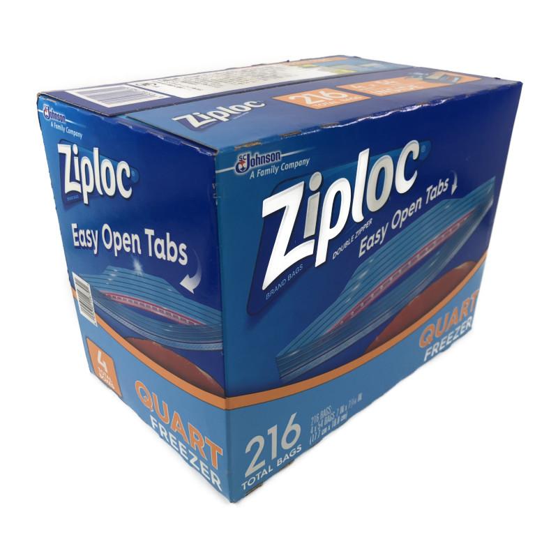 贈呈 国際ブランド コストコ COSTCO Ziploc ジップロック ダブルジッパー 冷凍用 216枚