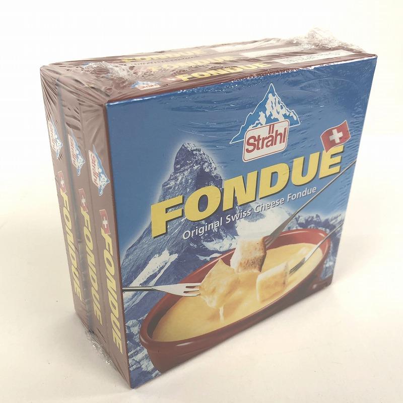 チーズフォンデュが3つでひとつになったパッケージ