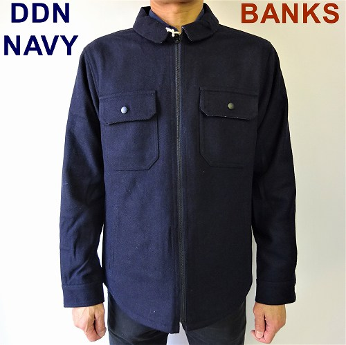 SALE!バンクス BANKS リバーシブルジャケット ジップジャケット BANKS JOURNAL LUMBER JACKET AJT0056/M・L・XL/ネイビー
