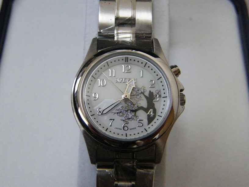 Sellout pardon! !! (the postage is usually added to collect on delivery separately.) Mount wisteria Japanese style watch Lady's, MT-009LS