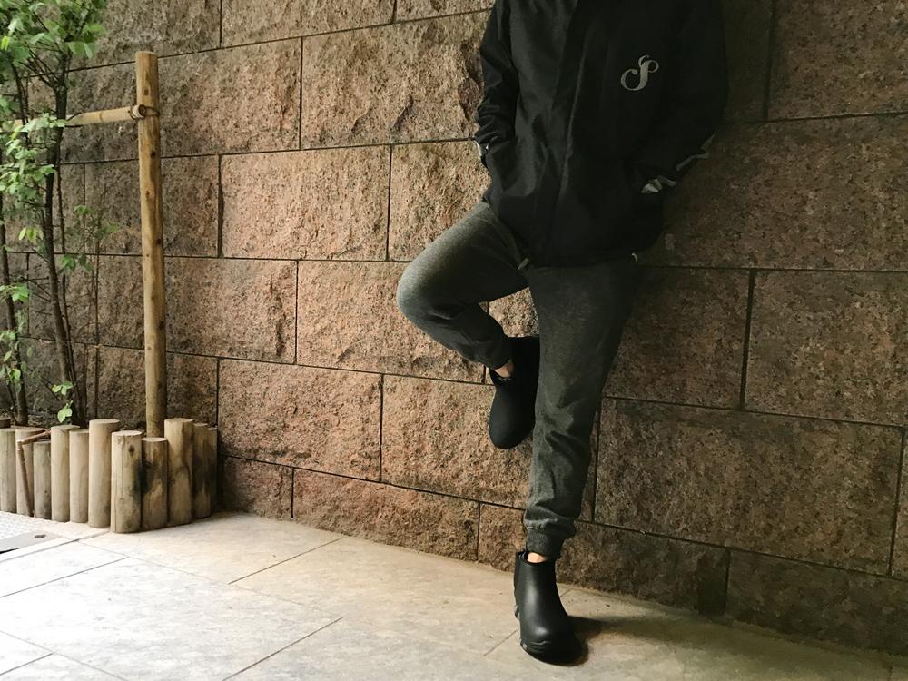 Rain boots men bootie side Gore pullover boots business fashion ccilu  HORIZON,CHELSEA 25.5,28.5cm rain shoes fair or rainy weather combined use