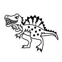 お名前スタンプ(よくばりプレミアム22本セット) スピノサウルス 【ネームスタンプ 名前はんこ】 (子供 幼児 小学生 幼稚園 男の子 入学祝い)
