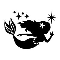 お名前スタンプ(よくばりプレミアム22本セット) マーメイド 【ネームスタンプ 名前はんこ】 (子供 幼児 小学生 幼稚園 女の子 入学祝い)