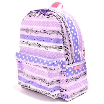 【スタンダードタイプ】リュックサック 奏でるメロディー弾ける水玉リズム(ラベンダー) (キッズ リュック 一年生 遠足 バックパック 遠足リュック 子供 小学生 女の子 紫)