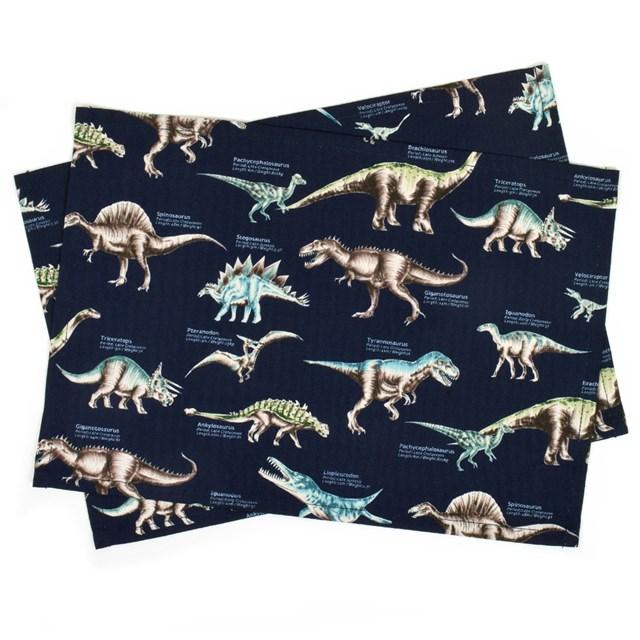 ランチョンマット(25cm×35cm) 2枚セット 恐竜ミュージアム 子供用 ナフキン 小学校 幼稚園 給食 ランチクロス テーブル クロス 給食 ランチマット 入園準備