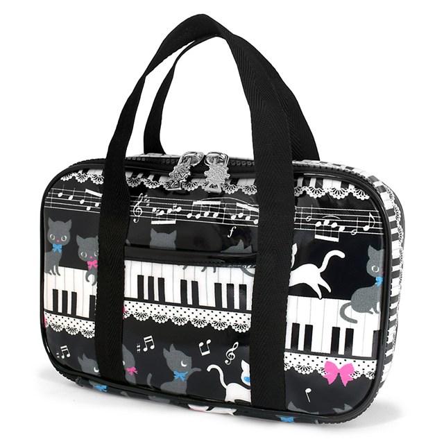 裁縫 ソーイングバッグ 大特価 ピアノの上で踊る黒猫ワルツ ブラック 子供用 裁縫バッグのみ 小学生 小学校 さいほうバッグ ラッピング無料 おしゃれ かわいい ソーイングセット 裁縫道具